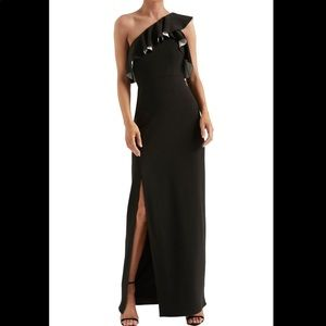 Halston Heritage NWT Ruffle One Shoulder Gown SZ 6